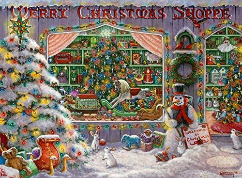 Ravensburger Puzzle Il negozio di Natale Puzzle 500 pz, Puzzle per Adulti