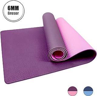 StillCool Esterilla Yoga TPE Colchoneta de Yoga, Alfombrilla de Yoga Profesional con Textura Antideslizante, Reversible de 2 Colores, Protección Ambiental para Yoga, Pilates (183 * 61 * 0.6 cm)