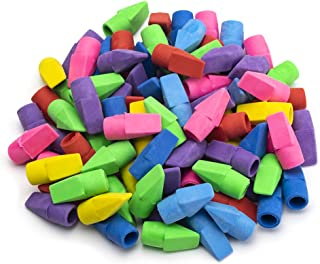 Pencil Erasers, Sooez Pencil Top Erasers Cap Erasers Eraser Tops Pencil Eraser Toppers School Erasers for Kids School Supplies for Teachers Eraser Pencil Erasers, Assorted Color (120 PACK)
