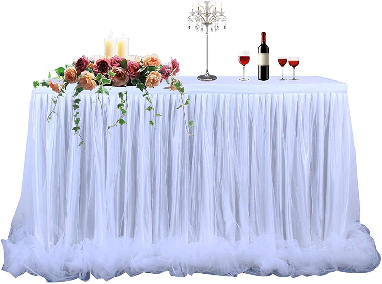 Coxeer Table Skirt Tulle Decorative Tutu Table Skirt Party Decoration for Wedding Party Decor