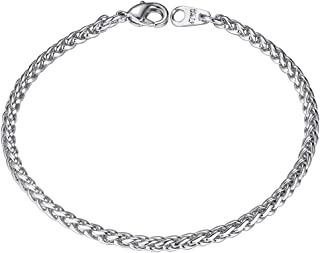 ChainsHouse Box/Wheat/Twist Rope Chain Bracelet for Men Women, 4/6mm Width, 316L Stainless Steel/18K Gold Plated (Send Gif...
