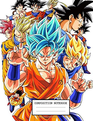 Composition Notebook: Dragonball Z Son Goku DBZ Notebook and Journal 7.5 x 9.25 inches with 110 Wide Rule Pages