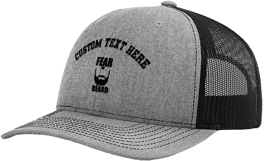 Custom Richardson Trucker Hat Fear The Beard Embroidery Polyester Baseball Cap