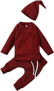 0-3 Años,SO-buts Otoño Invierno Recién Nacido Bebés Niños Casual Chaqueta De Manga Larga Sólida Sudadera Pantalones Sombre...