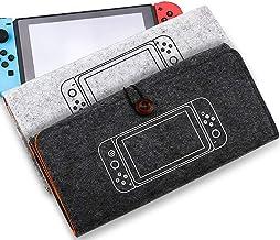 Bolsa de armazenamento de proteção de bolsa de feltro TwiHill para Nintendo Switch Bolsa flexível para transporte de camur...