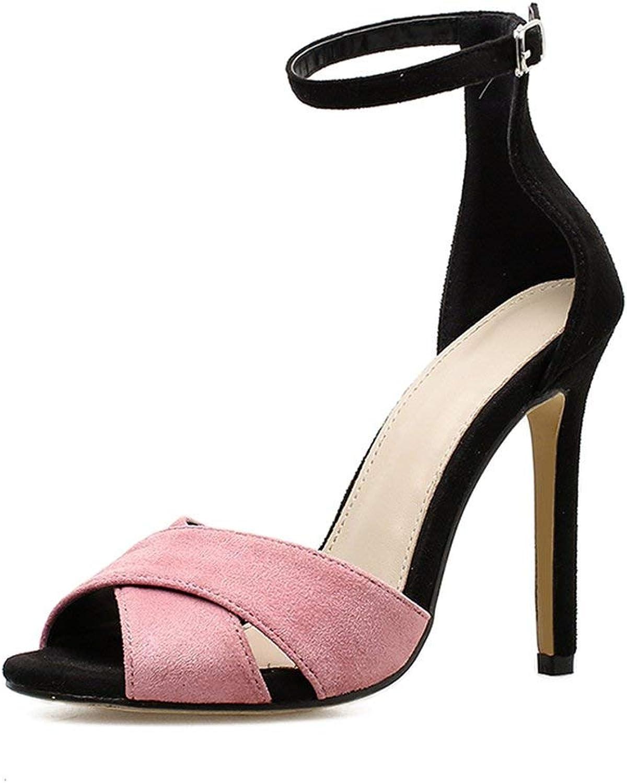 Women Sandals Peep Toe Pumps Summer shoes shoes Thin High Heels Woman Ankle Strap Sandals