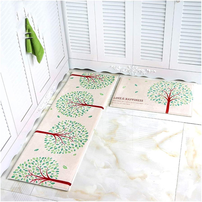 ZGP Alfombras Estera del Piso de la Cocina del hogar, absorción de Agua Antideslizante fácil de Limpiar, Juego de alfombras para el bao Manta (Color   D, Tamao   40  60+40  120cm)