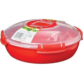 Sistema micro-ondes bol nouilles lunch box ronde récipient en plastique poignée 940ml