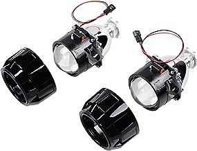 1 Pair 2.5 Inch LHD Mini Bi-xenon HID Projector Lens+ Shroud Kit High Low Beam Headlight H1 H4 H7 H13