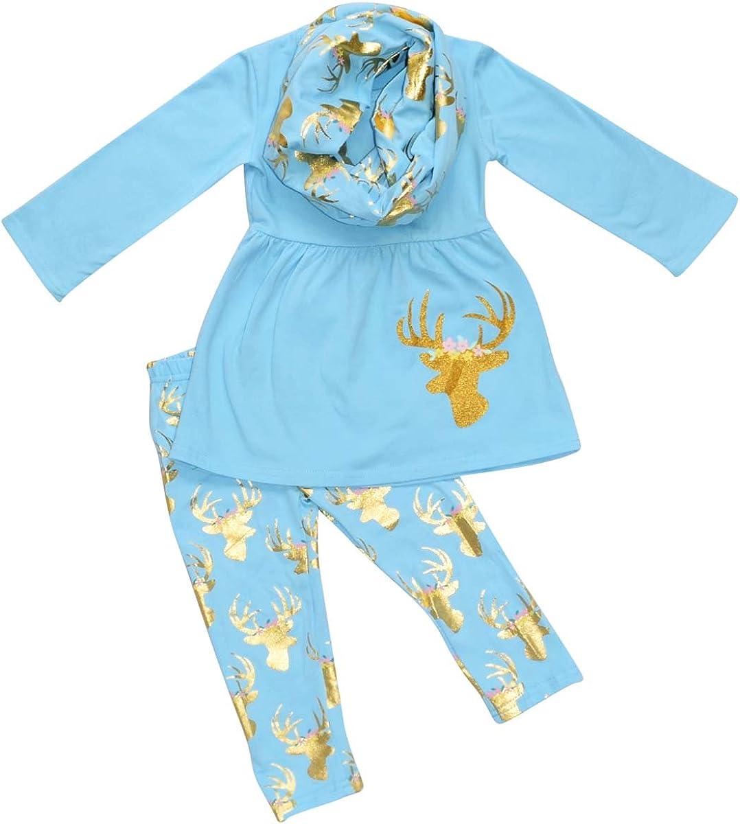 Detroit Mall Very popular! Unique Baby Girls Gold Moose Legging Spring Hunter Set