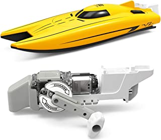 ACToy Science Kit for Kids Racing Boat, Wind-up Power Speed Boat for Swimming Pool & Bathroom, Hand Generator Set Educational DIY STEM Toy Mini Boat, Perfect Water Toys for Kids