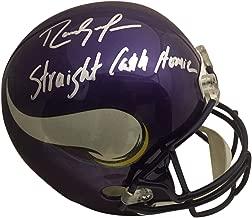 Randy Moss Autographed Minnesota Vikings Straight Cash Homie Signed Football Helmet JSA COA