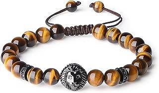COAI 8mm Precious Stone Beaded Lion Charm Bracelet