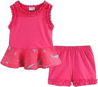 LittleSpring - Juego de Pantalones Cortos para niña (Verano, sin Mangas)