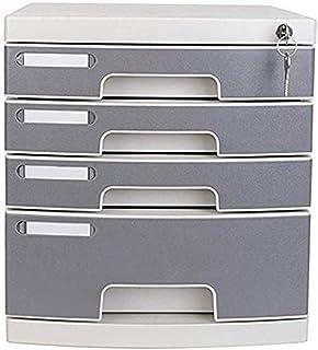 LIUYULONG Armoire de rangement de fichiers, armoire de bureau mobile à 4 tiroirs, armoire de rangement de données, armoire...