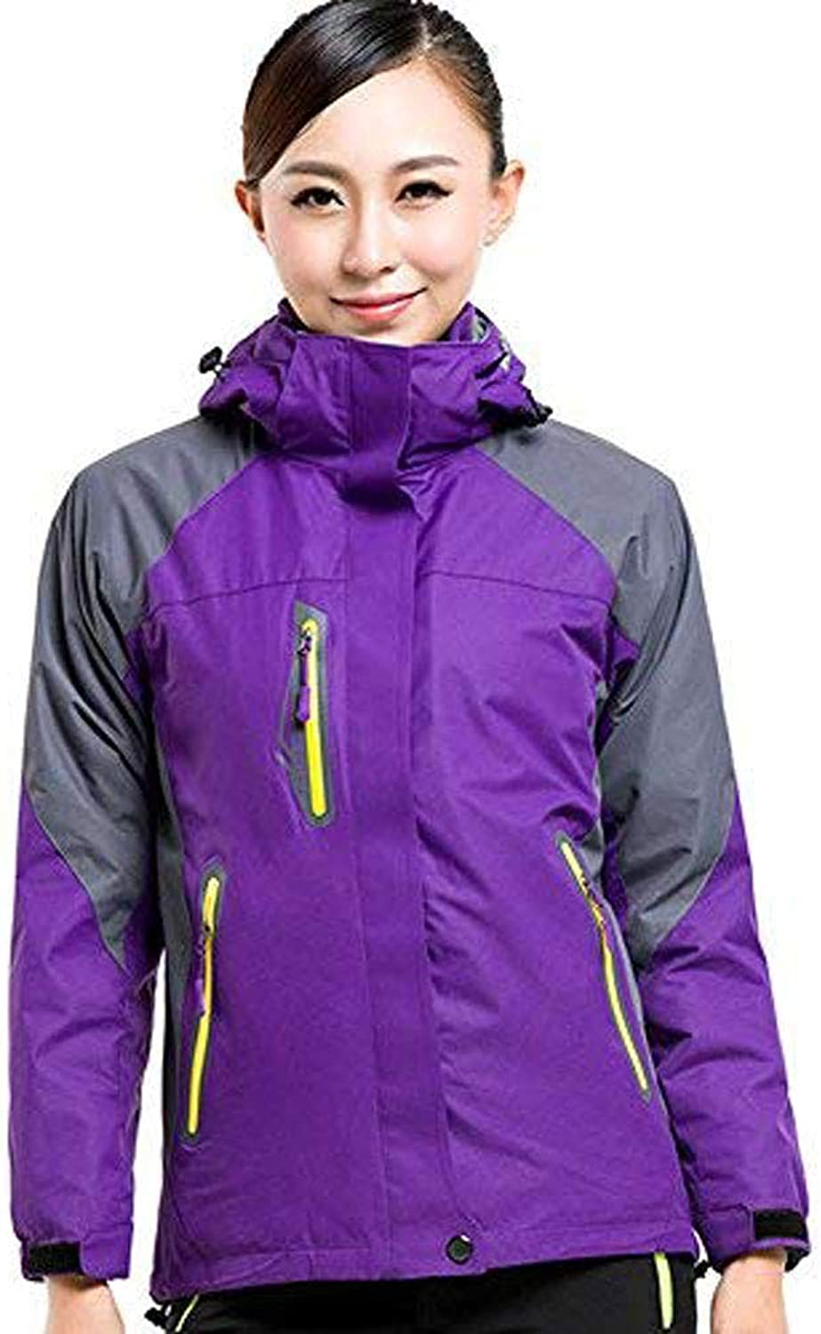 Lanbaosi Women's Hooded Waterproof Fleece Ski Jackets Outdoor Mountain Jacket