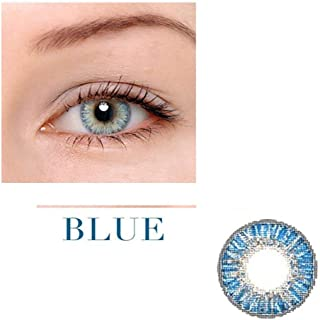 Unisex Contact Lenses Colored Collection Cosmetic Contact Lenses, 12 Months Disposable with Case-Blue