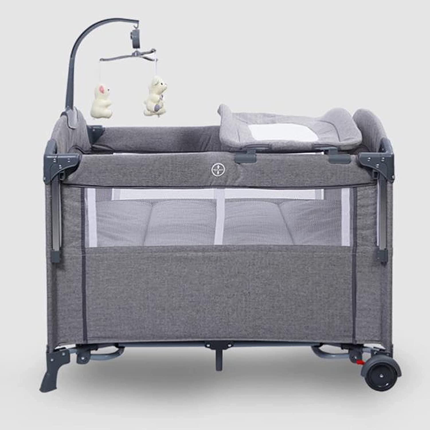 ZHZHUANG Baby Bed Large discharge sale Multiple Max 85% OFF Functions Portable Folding B Cot
