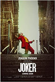 "Joker 2019 (Version C, Joaquin Phoenix) Movie Poster 24""x36"" - This is a Certified Poster Office Print with Holographic Sequential Numbering for Authenticity."