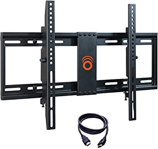 ECHOGEAR Tilting TV Wall Mount with Low Profile Design for 32-70 inch TVs - Eliminates Screen Glare with 15 Degrees of Smooth Tilt - Easy Install with All Hardware Included - EGLT1-BK