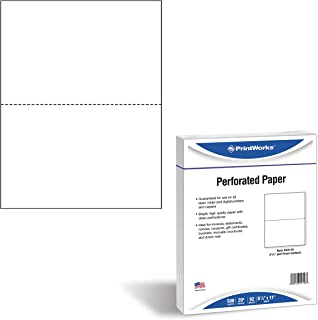 PrintWorks Professional Perforated Paper, 500 Sheets, 2 Part Perf