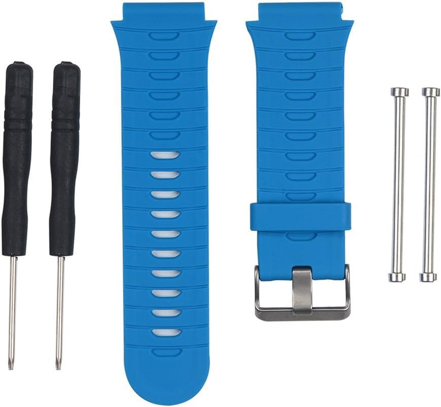 Cansenty - Correa de silicona de repuesto para reloj Garmin Forerunner 920XT, color azul