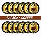 TeaZA Herbal Dip Coffee Pouches -Nicotine Free, Tobacco Free - Made with Green Tea Caffeine Energy Pouches [12 Pack]