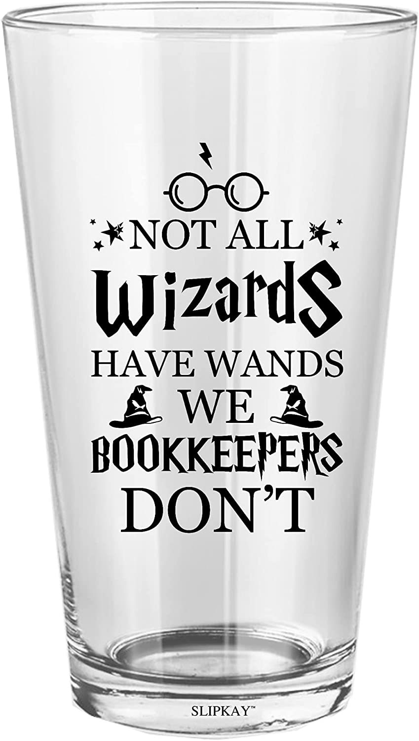 Wizards Bookkeepers 16 Save money Oz Animer and price revision Glass Pint