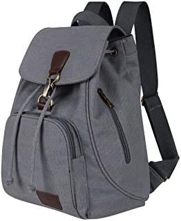 Qyoubi Womens Canvas Fashion Backpacks Purse Casual Outdoor Shopping Daypacks Hiking Travel Multipurpose Bag