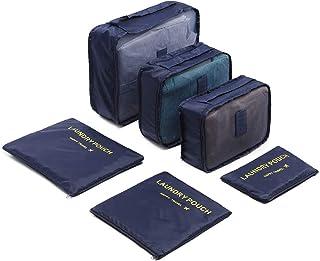Arabest Travel Storage Bag Set - 6-piece Portable Reusable Travel Luggage, Used For Suitcase Organizer, Storage Bag, Compr...