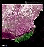 Large Posters Science MAP Satellite Dhofar Desert Oman