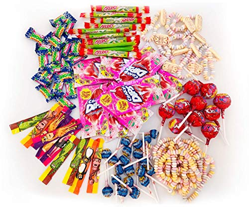 Chupa Chups Teenager Süßigkeiten Mix, 100-teilig, mit Lollis, Kaugummis, Kaubonbons & Spezialartikeln, ideal zum Befüllen von Schultüten, 1000 g