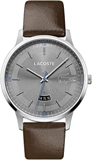 Lacoste Men's Grey Dial Brown Leather Watch - 2011033