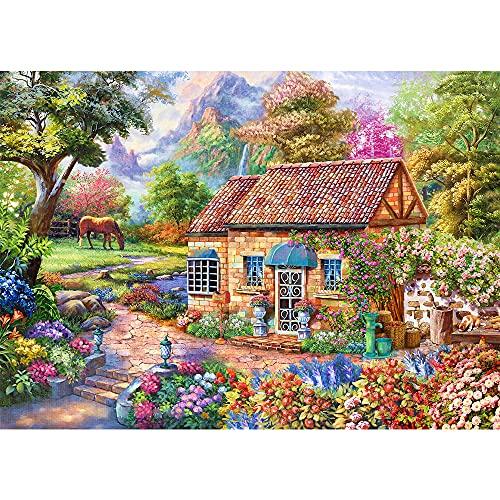 Puzzle 1000 Teile, Puzzle für Erwachsene,Klassische Puzzles,Puzzle Farbenfrohes Lsgespiel,Lmpossible Puzzle Geschicklichkeitsspiel für die ganze Familie,Geheime Garten