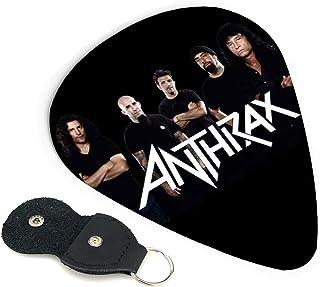 TONICKZILLA アンスラックス Anthrax Band ギターピック オシャレ ベース、カポタスト ギター、カポ アコースティックギター、ウクレレ、エレキギター用 ピック トライアングル 6枚セット プレゼント