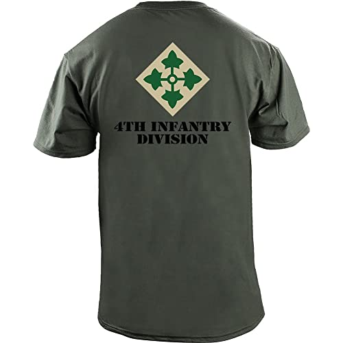 947d073e USAMM Army 4th Infantry Division Full Color Veteran T-Shirt