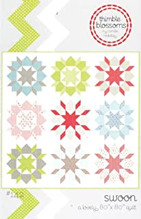 Swoon Quilt Pattern, Fat Quarter Friendly, 24 Inch Blocks, 80 Inch Square Finished Size