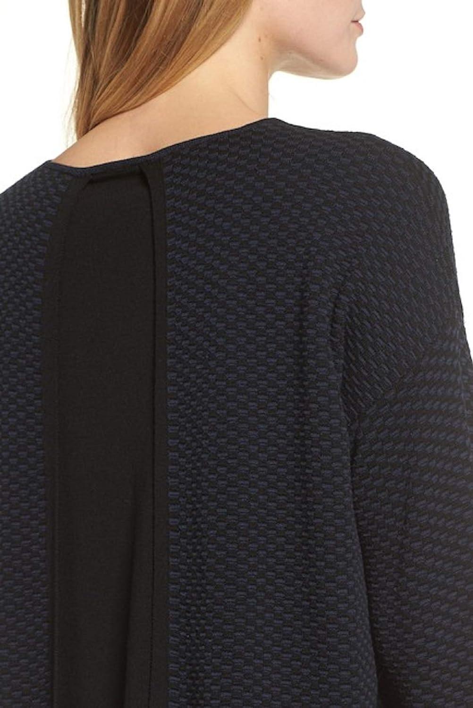 Eileen Fisher Midnight Sleek Tencel Round Neck Top Sweater Size L MSRP  338