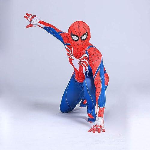 Spiderhomme Cosplay Jeu Jeu De Collants Adultes HalFaibleeen Costume De Fête Perforhommece Enfants,rouge-150CM