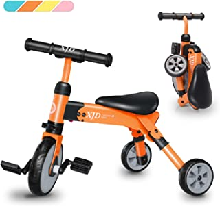 2 in 1 Kids Tricycles for 2 3 4 Years Old and Up Boys Girls Tricycle Kids Trike Toddler Tricycles for 2-4 Years Old Kids Toddler Bike Trike 3 Wheels Folding Tricycle Kids Walking Tricycle Walk Trike