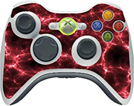 Red Lightning Storm Electric Vinyl Decal Sticker Skin by Moonlight4225 for Xbox 360 Wireless Controller