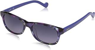 Liu Jo Rectangular LJ3601S Blue Marble Sunglasses for Girls 48-16-130mm