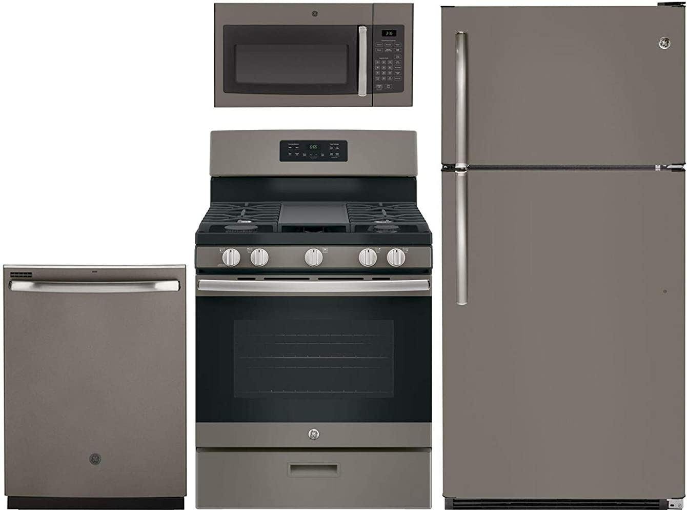 GE 4-Piece Kitchen Package with GTS21FMKES 32