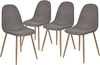 Best mid century modern fabric dining chairs Reviews
