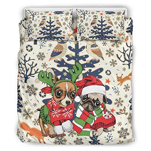 O2ECH-8 Bedspread Bedding Sets Premium 3-Piece Pillowcase and Pillow Cases Ultra Soft Boho Bedding Set, White, 168x229cm