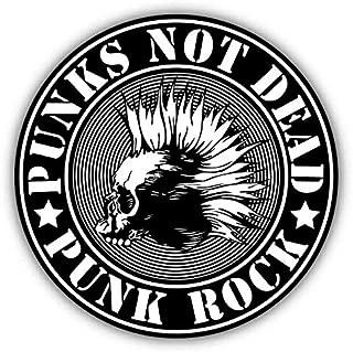 JJH Inc Punk Not Dead Skull Emblem Vinyl Decal Sticker Waterproof Car Decal Bumper Sticker 5
