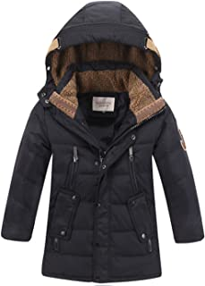 Toddler Kid Child Boy Hooded Thick Winter Parka Mid/Long Duck Down Puffer Padded Overcoat Jacket