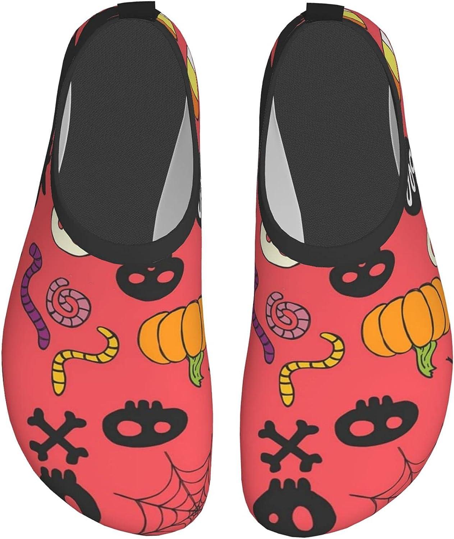 Halloween Pattern Water Sports Shoes Barefoot Quick-Dry Aqua Yoga Socks Slip-on for Men Women