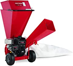 Craftsman Gas Powered 3-inch Wood Chipper Shredder with 250cc 4-Cycle Engine 10:1 Debris Reduction Ratio, Large Hopper, and 5-Bushel Bag, Liberty Red