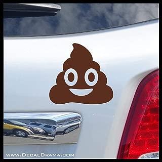 Poop Funny Emoji Vinyl Car/Laptop Decal